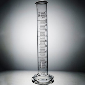 MEASURING CYLINDER (Round Base) B.G, Without Stopper, 100ml