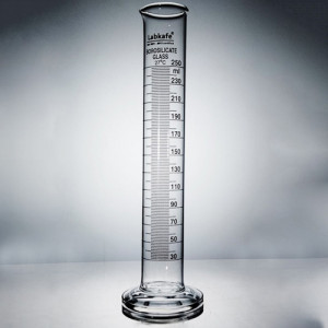 MEASURING CYLINDER (Round Base) B.G, Without Stopper, 250ml